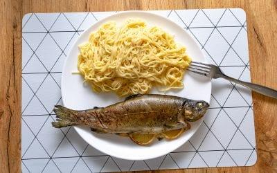 Spaghetti With Smoked Trout Carbonara