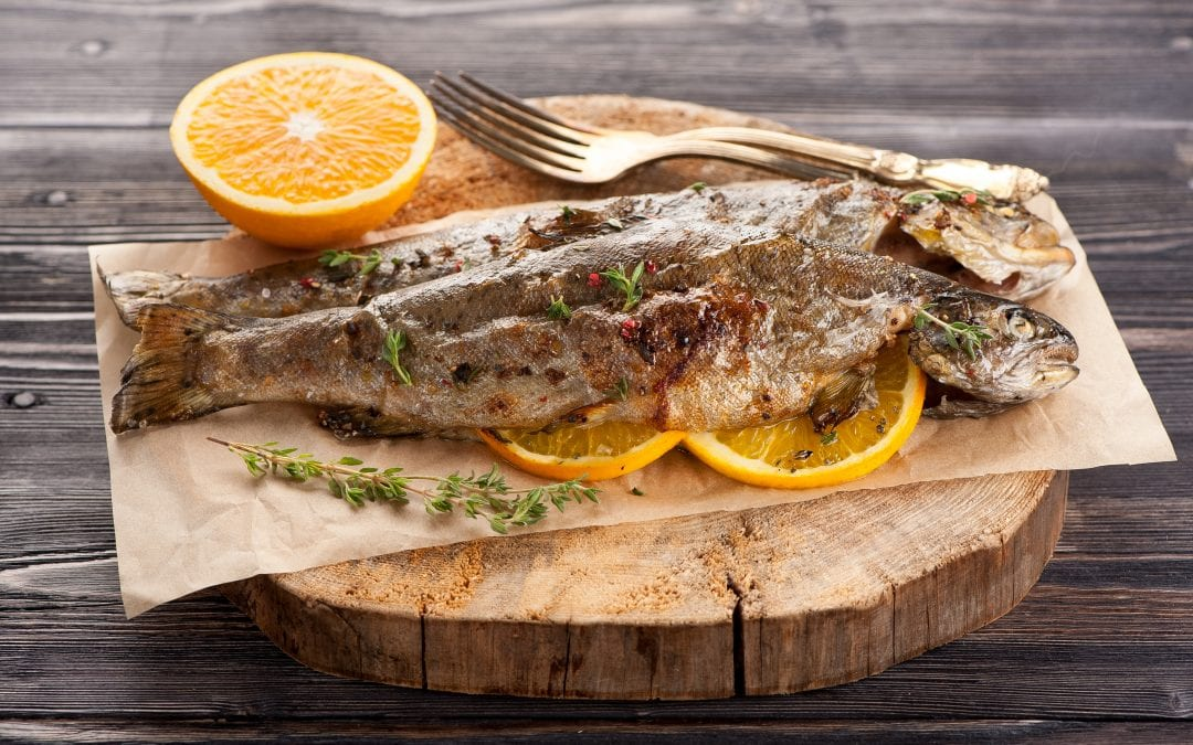 Sweet Citrus & Honey Grilled Trout