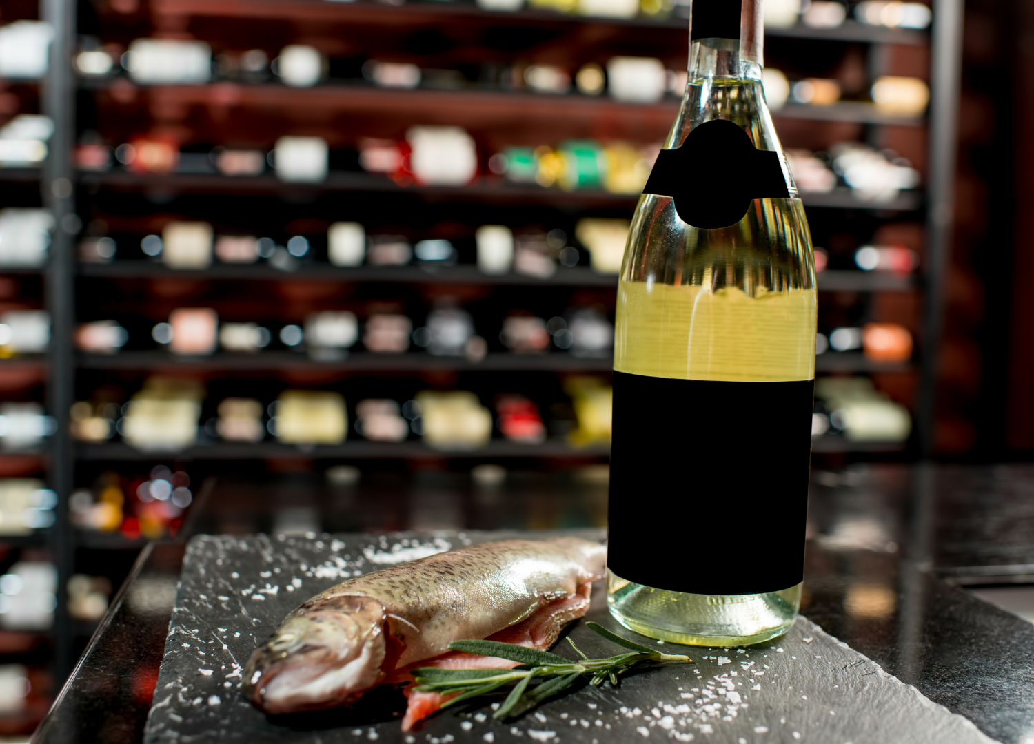 Trout and wine