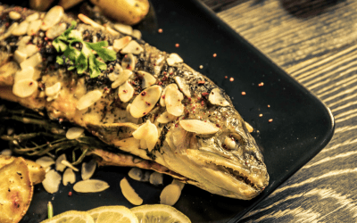 Simple Oven-Baked Trout with Almonds